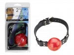 2 Red Ball Gag W/buckle