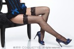 Fishnet Thigh High W/ Lace Top Black Os