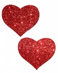 Pastease Heart Red Glitter