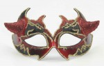 Venetian Mask Red W/devil Horns